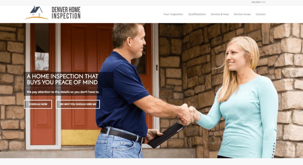 Modern Home Inspector Website