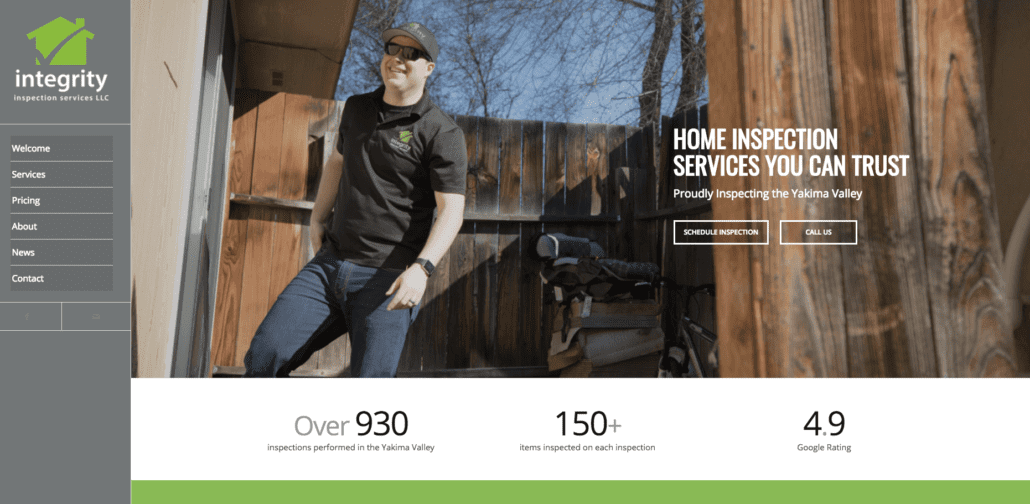 Integrity Home Inspection Website
