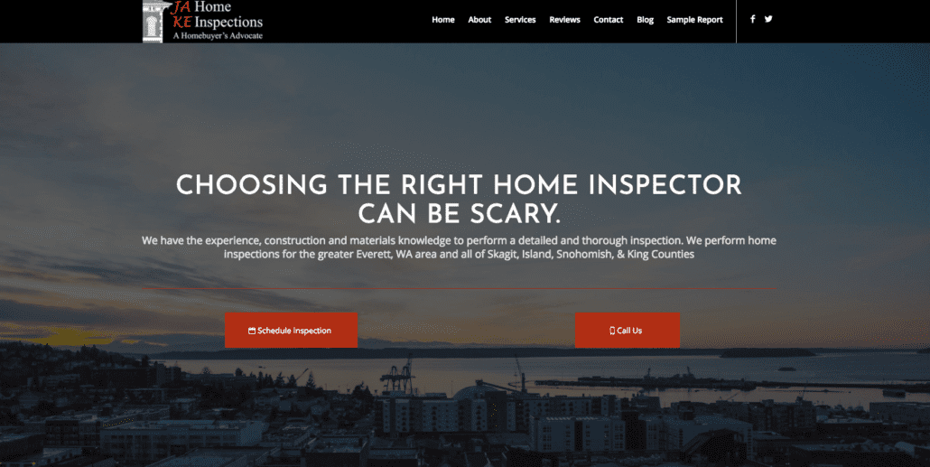 Home Inspector website - JAKE Home Inspections