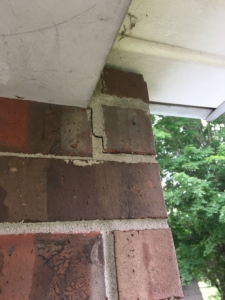 Step Cracking in Brick Veneer Home Exterior Inspections