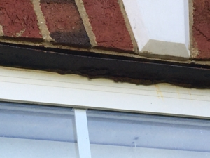 Lintel with lack of paint