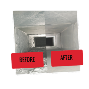 Duct and vent cleaning before and after